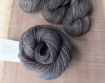 Slate - Hand Dyed Silk Yak DK Yarn