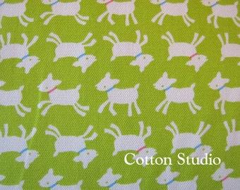 Goat Farm Animal Japanese Fabric Lime Green 1 yard