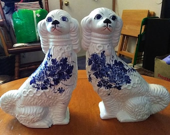 Vintage Murano Italian Porcelain Poodles from KB Italy. Beautiful Hand Painted!