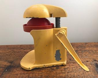 Vintage Juicerette Citrus Press, Vintage Citrus Press, Yellow Juicer