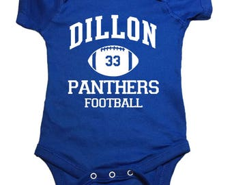 "Friday Night Lights Baby One Peice ""Dillon Panthers Football"" Bodysuit"