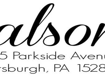 Balsom Custom Address Stamp
