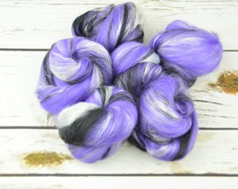 MYSTERY MIX Battitos - Blended Carded spinning fiber batts battlings - Ready to Ship