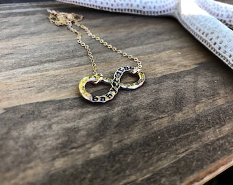 14k Gold Fill Infinity Stamped Necklace