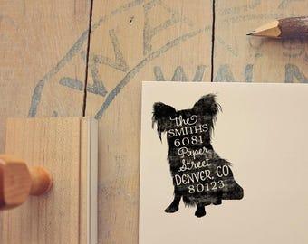 Yorkshire Terrier Return Address Stamp, Housewarming & Dog Lover Gift, Personalized Rubber Stamp, Wood Handle, Yorkie Dog