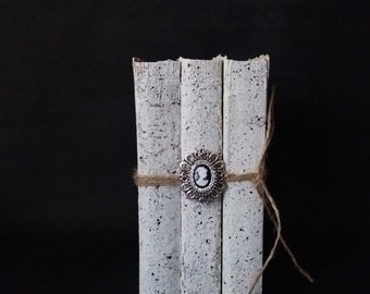Book set Decorative book set Vintage Book Stack Distressed Books Unbound books Old books Faux books Wedding book decor Farmhouse books