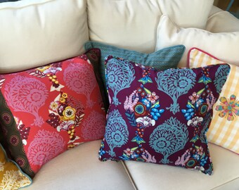 CUSHION Cover Piped Anna Maria Horner Innocent Crush Violet New Original