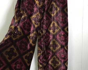 Vintage Velvet High Waisted Palazzo Pants
