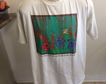 Vintage grateful dead T-shirt play dead 1998 what do you do if you see bears in the woods size xl