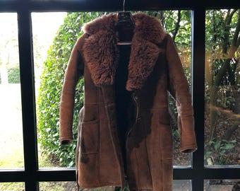 Vintage 70's Shearling brown Lammy Coat