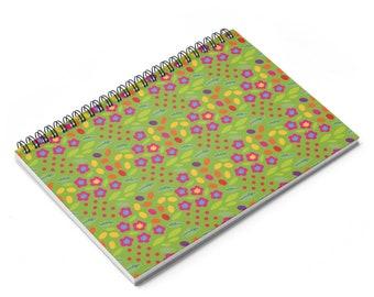 Garden Spiral Notebook  Ruled Line