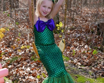 Mermaid Costume; Mermaid Dress (Girls' sizes)-Fast shipping!