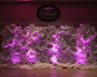 Paper Flower Backdrop 8x10ft - White