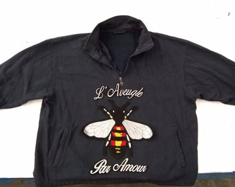 Bee Patch - USA Seller - BIG gucci style Sew on patch with Iron On Lettering!