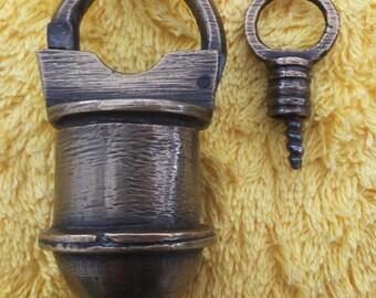 Vintage Bronze Padlock from Baghdad