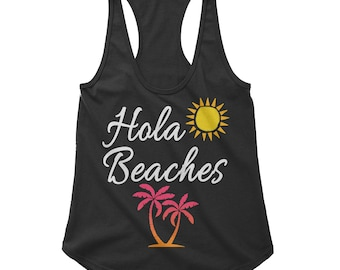 Hola Beaches RacerBack Scallop Bottom Tank for Women