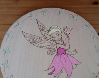 fairy princess wooden wall hanging