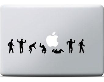 Roling Man MacBook Sticker, Laptop decal, MacBook Air, MacBook Pro, Vinyl decal