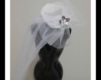 Barbie Doll Clothing vintage lace style wedding hat