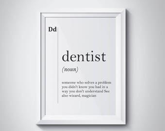 dental office decor. Dentist Definition, Dental Office, Orthodontist, Office Decor, Gift For Dentist, Decor R