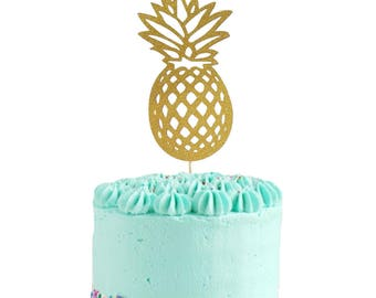 Pineapple Cake Topper • Tropical Party Decor • Bridal Shower Topper • Bachelorette Party • Luau Decor • Pineapple Birthday Decor