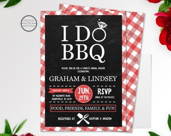 I Do BBQ Bridal Shower Invitation | Couples Bridal Shower Invitation | BBQ Wedding Shower Invitation | BBQ Bridal Shower Invitation | Summer