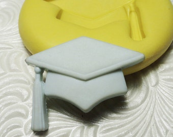 GRADUATION CAP HAT Mold Flexible Silicone Rubber Push Mold for Resin Wax Fondant Clay Fimo 6107