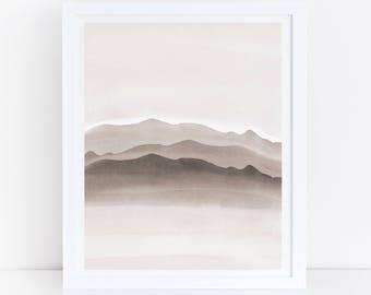 Neutral Wall Art, Neutral Printable Art, Neutral Print, Simple Wall Art, Simple Artwork, Minimal Wall Print, Neutral Minimalist, Brown Print