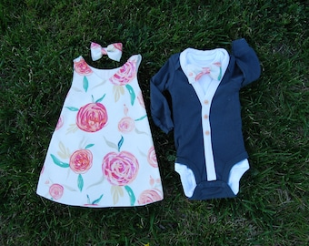 SALE- Twin boy and girl outfits