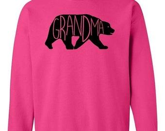 ON SALE - Grandma Bear   - Crewneck Sweatshirt