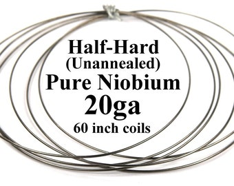 Pure niobium wire 21 gauge 029 inch diameter 7366 mm pure niobium wire 20 gauge 031 inch 8mm 20ga awg 5 foot 60 inch coils natural unannealed half hard free ship keyboard keysfo Choice Image