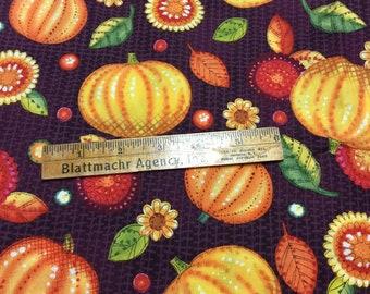 Homespun Pumpkins Fabric - PRETTY