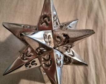 Mexican Tin Folk Art Star Ornaments Medium