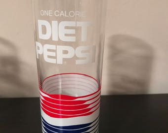 1980's Vintage Diet Pepsi Glasses.