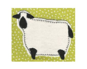JUST 2 SHEEP. For the 4x4 hoop Prim/folk art Machine Embroidery Designs