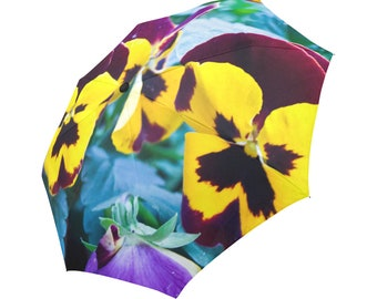 Flower Umbrella Pansies Umbrella Yellow Umbrella Designed Umbrella Photo Umbrella Rainbow Umbrella Photo Umbrella Automatic Abstract Umbrell