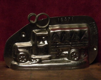 antique chocolate mold army truck