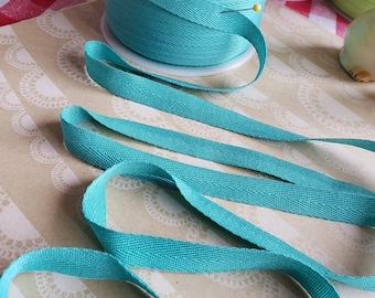 """AQUA Twill Band-Ordnungs - Polyester Nähgarn Banner Girlande Versandverpackung - 1/2"""" breit - 10 Yards"""