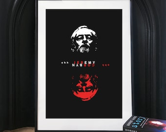 Jeremy Corbyn Art Print. 'Ohh Jeremy Corbyn' Illustration poster, Matte and Giclee Art Prints in A5, A4, A3 sizes