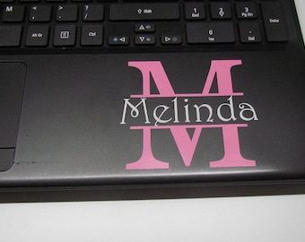 Laptop Decal, Vinyl Decal, Personalized Yeti, Name Decal, Yeti Tumbler Decal, Laptop Decal, Personalized Womens, Personalized Decal