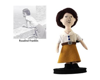 Science gift for her.Girl science gifts.Women in STEM.Science room decor.DNA gift.Feminist doll.Woman Scientist doll.Rosalind Franklin doll.