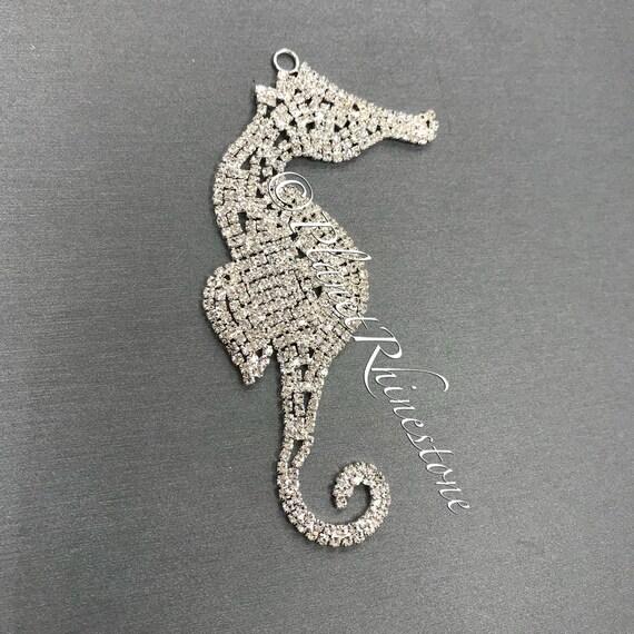 Seahorse Rhinestone Applique #AS-11