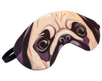 Pug Sleep Mask - A Great Gift for Easter, Mother's Day, Girlfriend, Boyfriend, Gift for Her