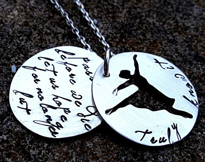 Truly know it - An inspired soild sterling silver phrase necklace - double disc, custom cut out shape - wonderful and meaningful gift
