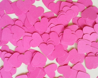 200 table confetti for wedding decor, candy bar, christening or Valentine's Day heart