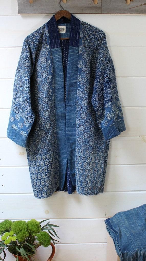 Patchwork Kantha Quilt Kimono