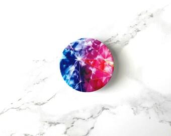 Diamond Marble Pop Socket, Live Colorfully iPhone Grip & Stand, Marble Popsocket Elegant Fashion Selfie Holder Phones Tablets iPhone Samsung