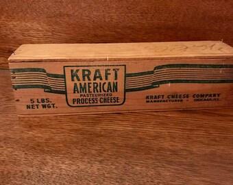 Wooden Kraft Cheese Box 5lb w/ lid