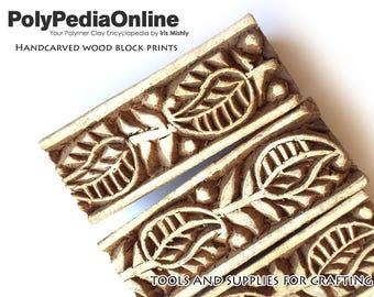 Block Print, Wood Block, Printing Stamps, Wood Stamp, Fabric Block, Flower Stamp, Pattern Block, Pottery Stamp, Indian Stamp, Leaves SALE