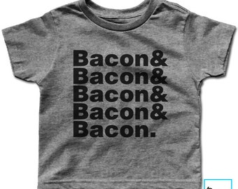 Bacon & Bacon | Bacon Lover | Foodie Shirt | Funny Bacon Shirt | Foodie Gift | Food Lover | Funny Gifts | Funny Food Shirt | Kids T-shir